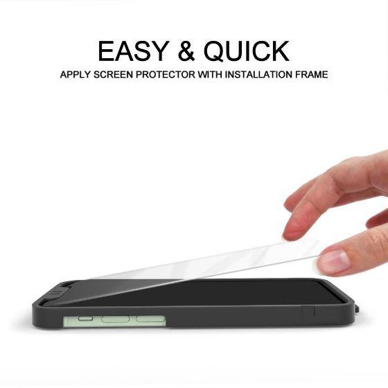 Premium Glass Screen Protector for iPhone 12 Pro (2 Pack) - [Easy Installation Kit include]