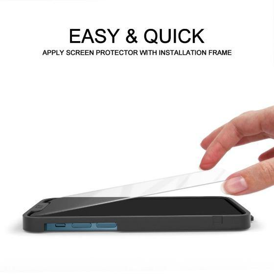 Premium Glass Screen Protector for iPhone 12 Pro Max (2 Pack) - [Easy Installation Kit include]