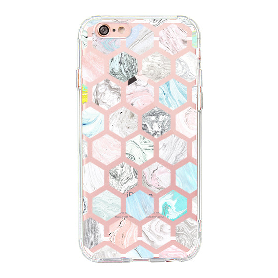 Fashion Rhombus Marble Phone Case - iPhone 6/6S Case