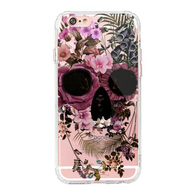 Cool Flower Skull Phone Case - iPhone 6/6s Case