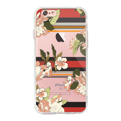 Stripes Flower Floral Phone Case - iPhone 6/6S Case