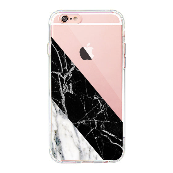 White Black Marble Phone Case - iPhone 6 Plus/6S Plus Case