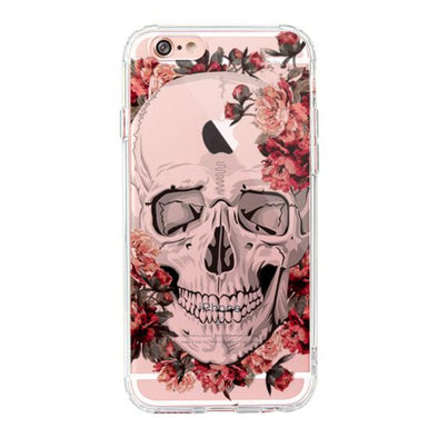 Cool Floral Skull Phone Case - iPhone 6 Plus/6S Plus Case