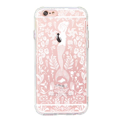 White Mermaid Phone Case - iPhone 6 Plus/6S Plus Case