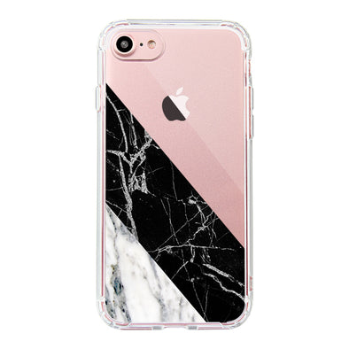 White Black Marble Phone Case - iPhone 7 Case