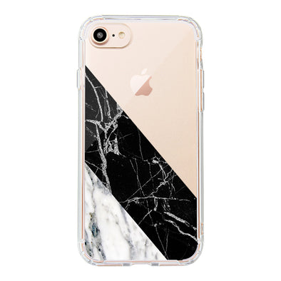 White Black Marble Phone Case - iPhone 8 Case