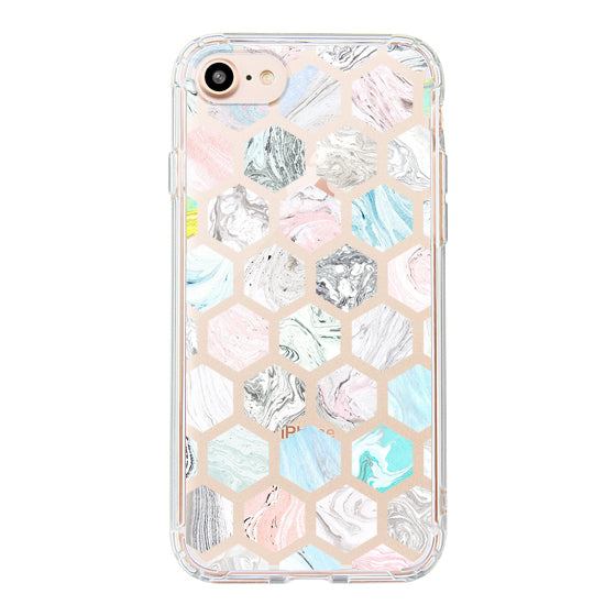 Fashion Rhombus Marble Phone Case - iPhone 8 Case
