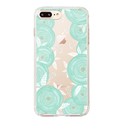 Mint Roses Phone Case - iPhone 8 Plus Case
