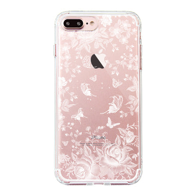 White Rose Garden Phone Case - iPhone 7 Plus Case