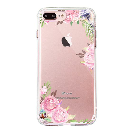 Feathers and Roses Phone Case - iPhone 7 Plus Case