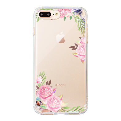 Feathers and Roses Phone Case - iPhone 8 Plus Case