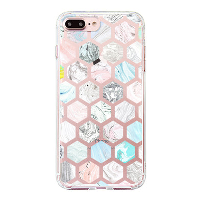 Fashion Rhombus Marble Phone Case - iPhone 7 Plus Case
