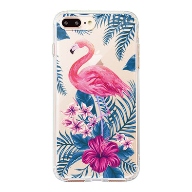 Tropical Flamingo Phone Case - iPhone 8 Plus Case