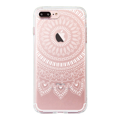 White Mandala Phone Case - iPhone 7 Plus Case