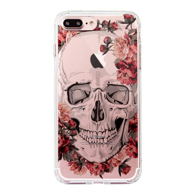 Cool Floral Skull Phone Case - iPhone 7 Plus Case