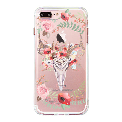 Floral Boho Skull Phone Case - iPhone 7 Plus Case