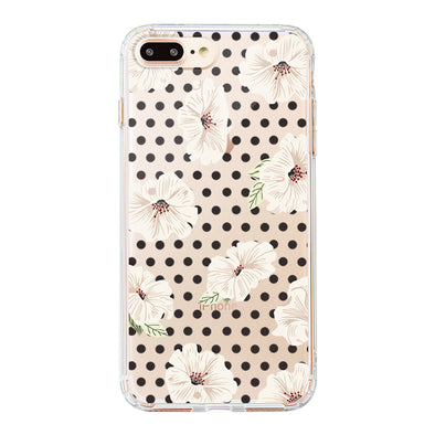 Vintage Polka Dot Flower Floral Phone Case - iPhone 8 Plus Case
