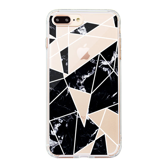 Black Marble Phone Case - iPhone 8 Plus Case