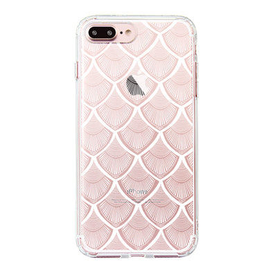 White Bohemian Henna Mandala Phone Case - iPhone 7 Plus Case