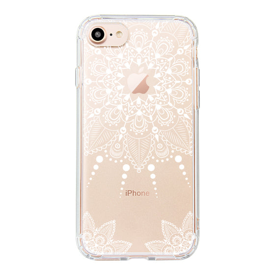 White Henna Garden Phone Case - iPhone 8 Case