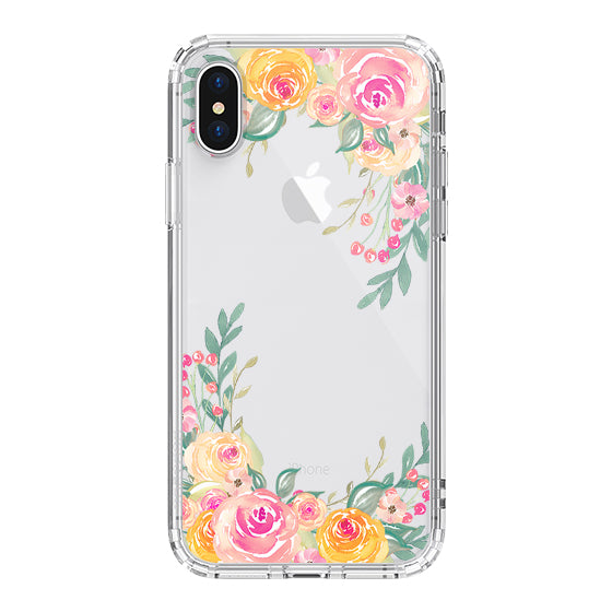 Pink Rose Flower Phone Case - iPhone X Case