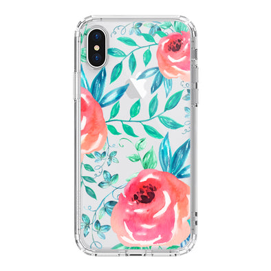Roses Leaf Phone Case - iPhone XS Case