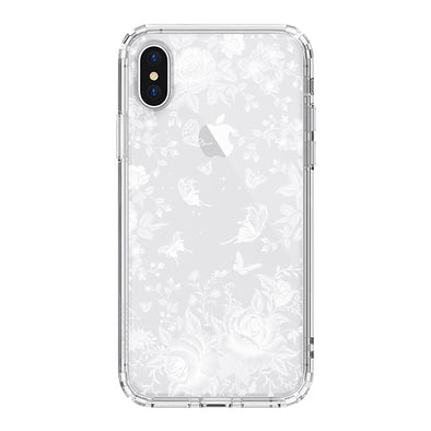 White Rose Garden Phone Case - iPhone XS Case