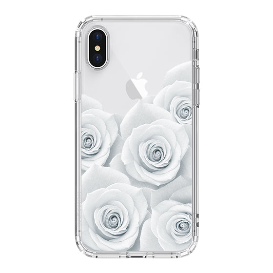 White Roses Phone Case - iPhone X Case