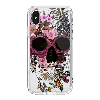 Cool Flower Skull Phone Case - iPhone X Case