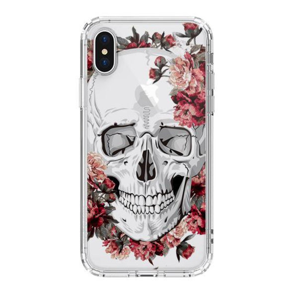 Cool Floral Skull Phone Case - iPhone XS Case