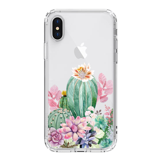 Tropical Cactus Succulents Phone Case - iPhone X Case