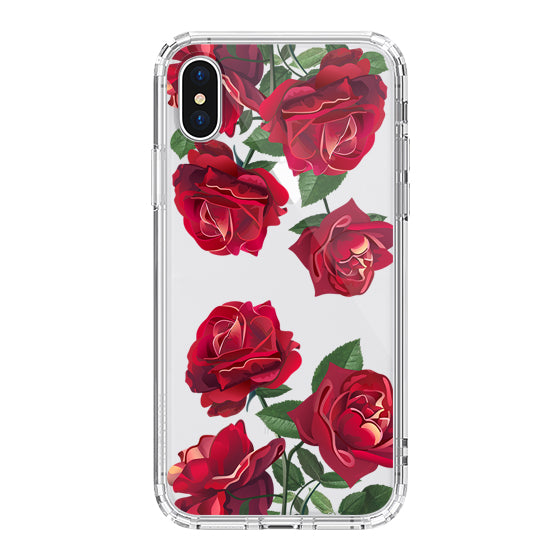Red Rose Blossom Flower Floral Phone Case - iPhone XS Case
