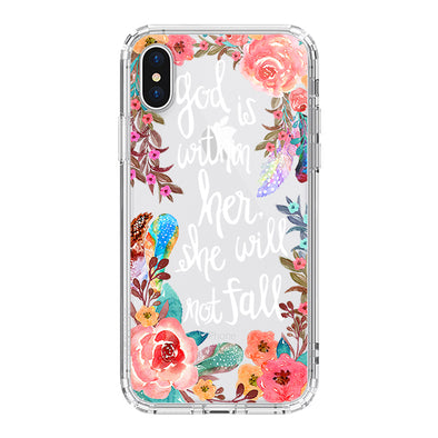 Floral Flower With Christian Quote Phone Case - iPhone XS Case