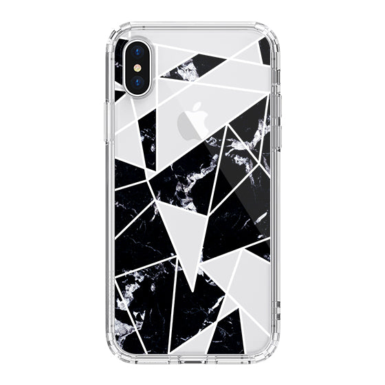 Black Marble Phone Case - iPhone X Case