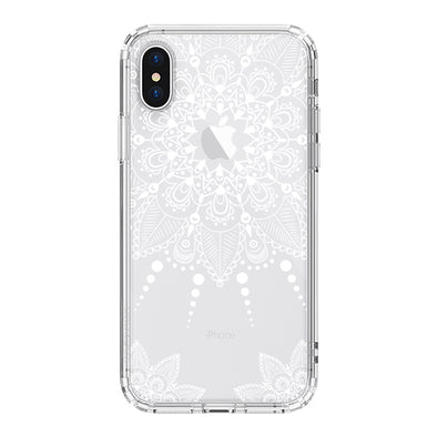 White Henna Garden Phone Case - iPhone XS Case