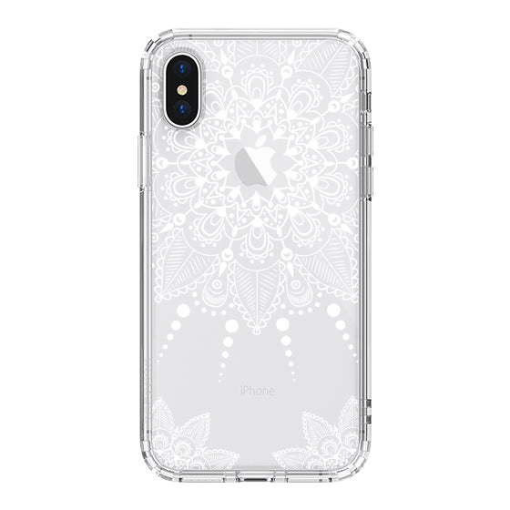 White Henna Garden Phone Case - iPhone X Case