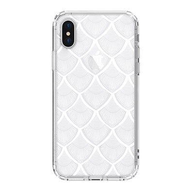 White Bohemian Henna Mandala Phone Case - iPhone X Case