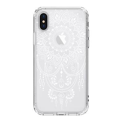 Mandala Henna Tattoo Phone Case - iPhone X Case