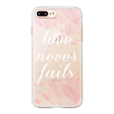 Love Never Fails Quotes Phone Case - iPhone 8 Plus Case