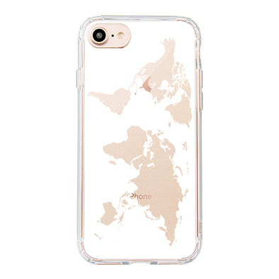 White Map Phone Case - iPhone 8 Case