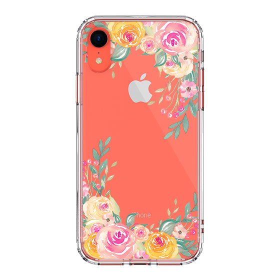 Pink Rose Flower Phone Case - iPhone XR Case