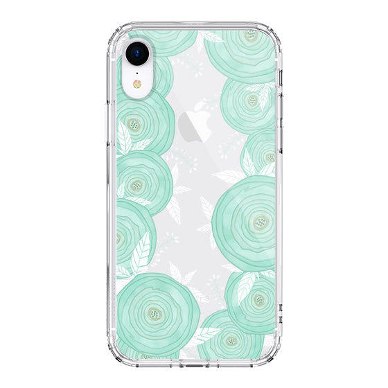 Mint Roses Phone Case - iPhone XR Case