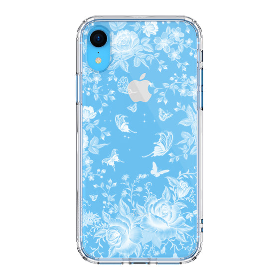 White Rose Garden Phone Case - iPhone XR Case