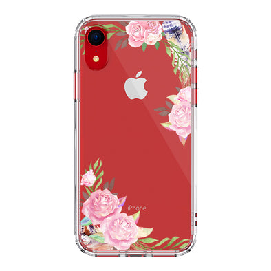 Feathers and Roses Phone Case - iPhone XR Case