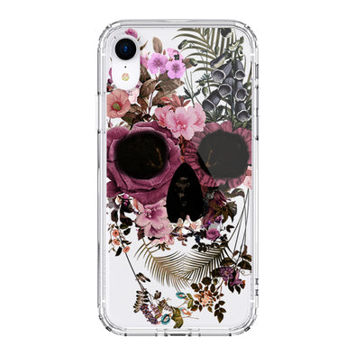 Cool Flower Skull Phone Case - iPhone XR Case
