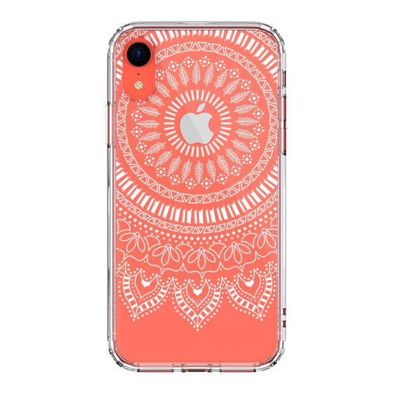White Mandala Phone Case - iPhone XR Case