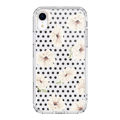 Vintage Polka Dot Flower Floral Phone Case - iPhone XR Case