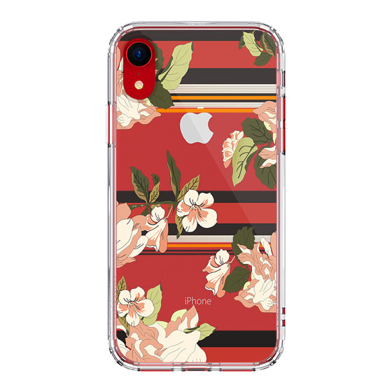 Stripes Flower Floral Phone Case - iPhone XR Case