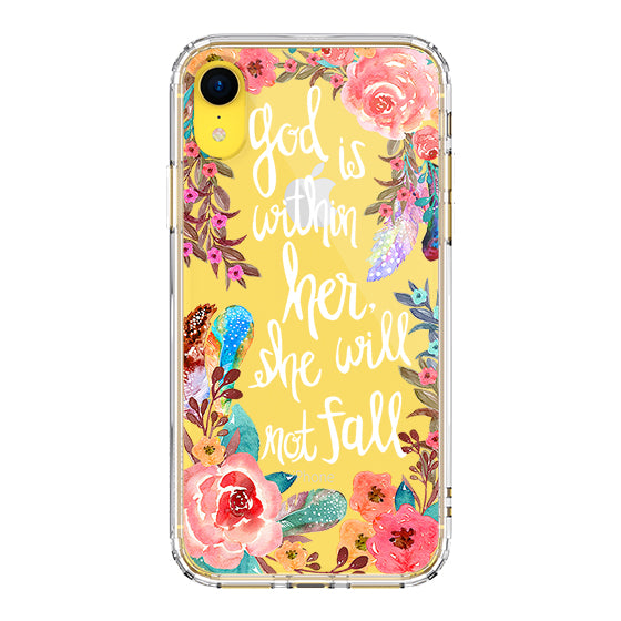 Floral Flower With Christian Quote Phone Case - iPhone XR Case