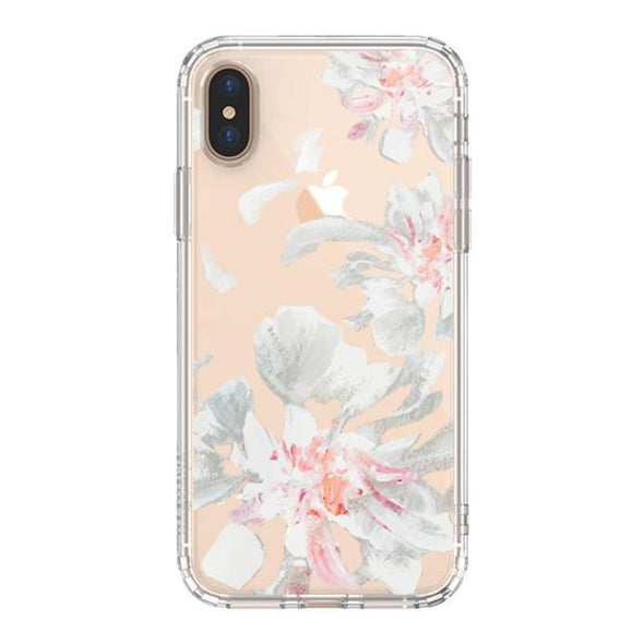 White Petal Phone Case - iPhone Xs Max Case